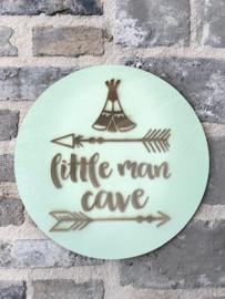 Muurcirkel Little man cave 2D