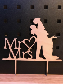 taarttopper Mr en Mrs 1