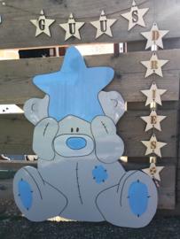 Beer met ster (lichtblauw)