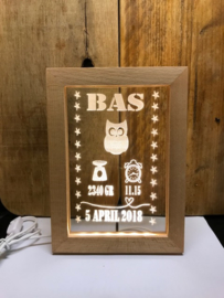 Led geboortelijstje Bas