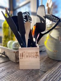 Keukengereihouder/pennenbakje/pennenhouder Liefde