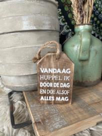 Houten hanger Vandaag
