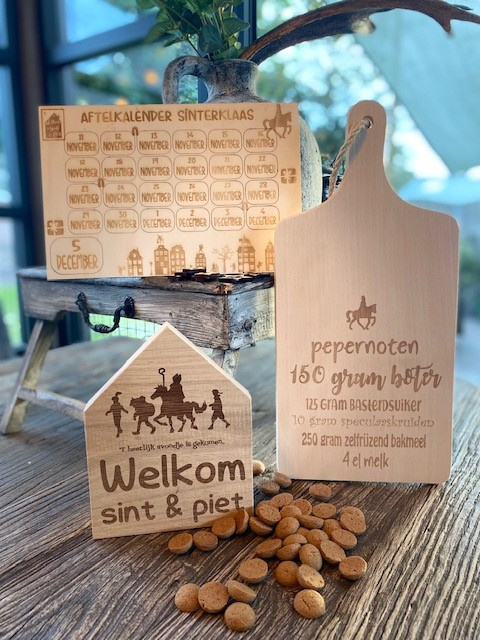 Sinterklaaspakket compleet -serveerplank recept