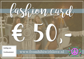 Fashion card 50 euro