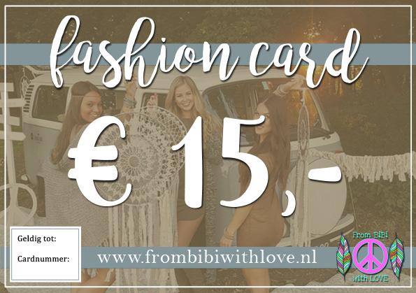Fashion card 15 euro