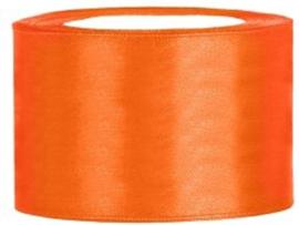 Rol satijnlint (50mm) oranje 25 meter