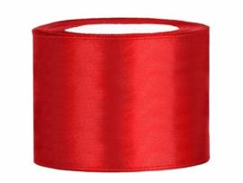Rol satijnlint (50mm) rood 25 meter
