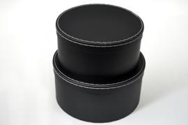 SET 2x Luxe Cadeaudoos rond zwart