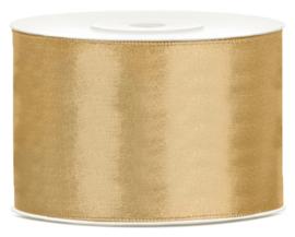 Rol satijnlint (50mm) goud 25 meter