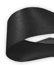 Lint Satijn Zwart 50mm per 3 meter