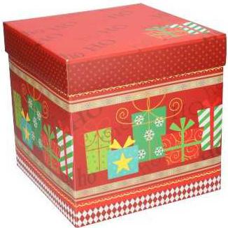 Kerstdoos cadeaudoos vierkant met deksel 22,5cm (MDK1)