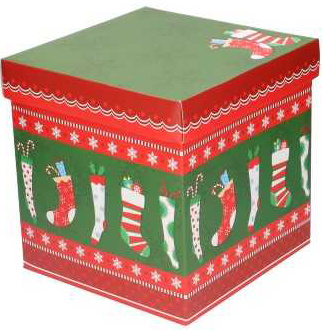 Kerstdoos cadeaudoos vierkant met deksel 22,5cm (MDK2)