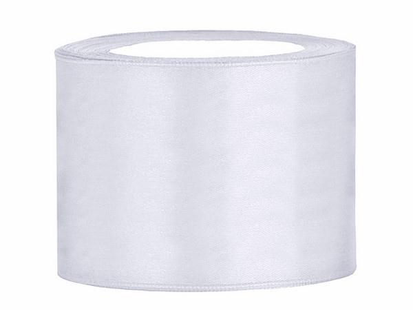 Rol satijnlint (50mm) wit 25 meter