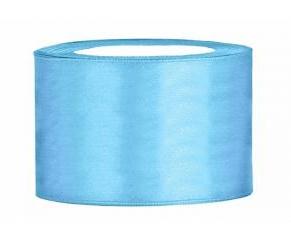 Rol satijnlint (50mm) blauw 25 meter