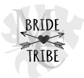 champagneglas sticker: Bride Tribe