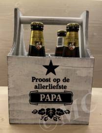 """Bierkratje - Proost op de allerliefste papa  """"ster"""""""