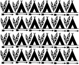 Muurdecoratiesticker: Wigwam veren pijl (diverse maten)