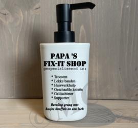 Luxe zeeppompje wit met zwarte dop - papa's / opa's fix-it shop