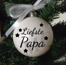 "Kerstbal ""Liefse Opa"" ( oma, papa en mama ook mogelijk)"