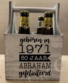 Bierkratje - 50 jaar abraham