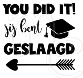 You did it jij bent geslaagd