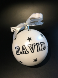 """Kerstbal """"naam """" sterren"""
