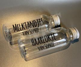 Memory flesje: Haarlokje en Melktandjes