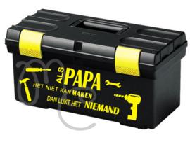 Sticker : Als papa / opa het niet kan maken (voor op gereedschapskist)