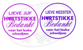 Lieve Juf/Meester Hartstikke bedankt voor het leuke schooljaar