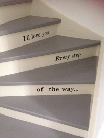 I love you every step of the way traptekst