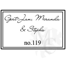 Kader namen en huisnummer