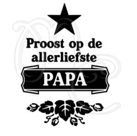 Proost op de allerliefste papa / opa (ster)