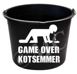 Sticker :  Game over Kotsemmer