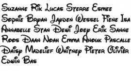 Traktatie naam stickers no4
