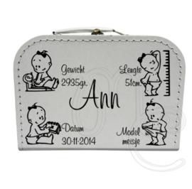 Geboorte koffertje : Geboorte kaartje meisje
