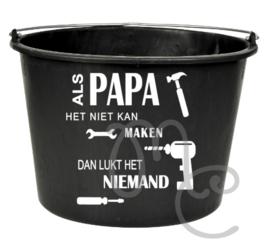 Sticker : Als papa / opa het niet kan maken