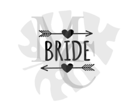 champagneglas sticker: Bride