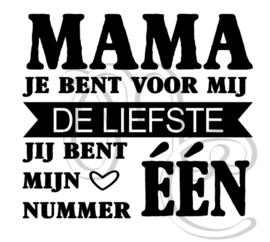 Mama / Oma jij bent mijn nummer één