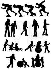 Sticker - Uitbreidingsset Schaatsen