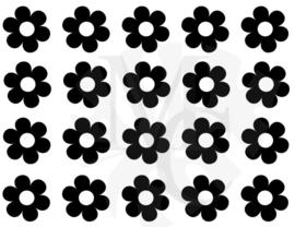 Muurdecoratiesticker: Bloemen (diverse maten)