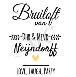 Sticker -Bruiloft van
