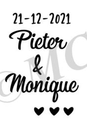 Huwelijk namen en datum