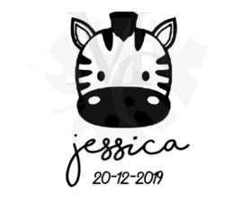 Zebra naam/datum