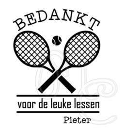Bedankt - Tennis