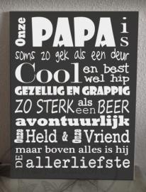Onze papa is