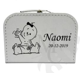 Geboorte koffertje : Zwaaiende baby (jongen/meisje)