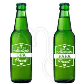 Sticker - voor de allerliefste papa / opa Proost