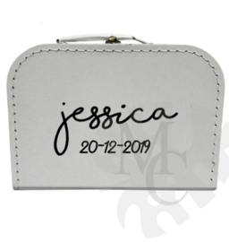 Geboorte koffertje : Naam (diverse lettertypes)