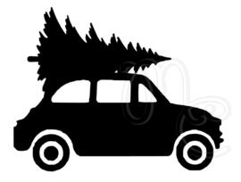 Statisch - Auto met kerstboom