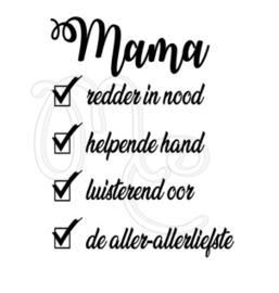 Mama / oma redder in nood